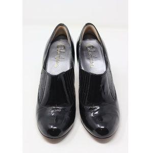 Cole Haan Shoes - Cole Haan   black patent low cut bootie heels EUC